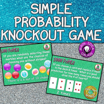 7th Grade Review Activity- Simple Probability Game