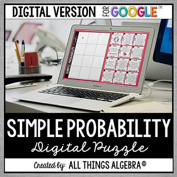 Simple Probability Puzzle: DIGITAL VERSION for Google Slides™