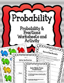 Simple Probability Worksheets and Activity. Fractions. Dinosaurs. Poster