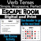 Simple, Progressive and Perfect Verb Tenses Activity: Escape Room Grammar