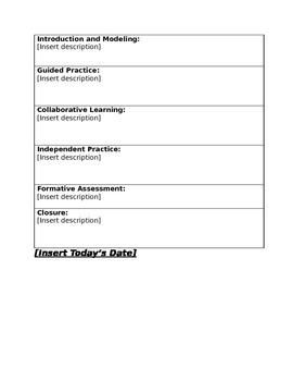 Simple project based learning pbl lesson plan template by for Project activity plan template
