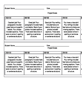 Simple Project Rubric