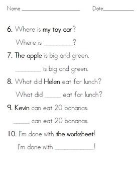 Simple Pronoun Practice