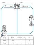 Simple Pronoun/Noun Sort