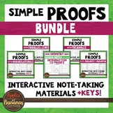 Geometric Proofs Interactive Note-Taking Materials Bundle