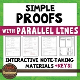 Simple Proofs with Parallel Lines - Interactive Note-Taking Materials