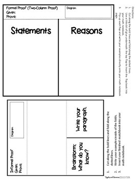 Simple Proofs with Quadrilaterals - Interactive Note-Taking Materials