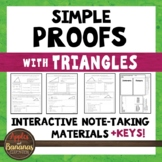 Simple Geometric Proofs with Triangles - Interactive Note-