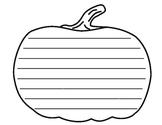 Simple Pumpkin Writing Template