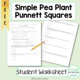 Simple Punnett Square Practice Problems Biology Genetics