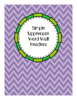 Simple Purple and Green Circular Uppercase Letter Cards