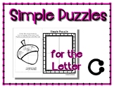 Simple Puzzles for C - Preschool by Narcissa