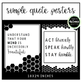 Simple Quote Posters