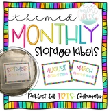Simple Rainbow Monthly Storage Labels! Perfect for IRIS Co