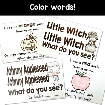 Simple Reading Booklets for Kindergarten and Pre-K