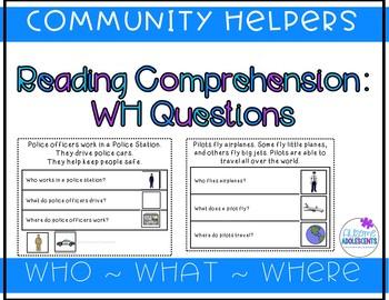 Simple Reading Comprehension/Wh Concept Stories BUNDLE 1