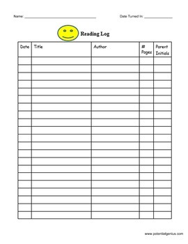 Simple Reading Log
