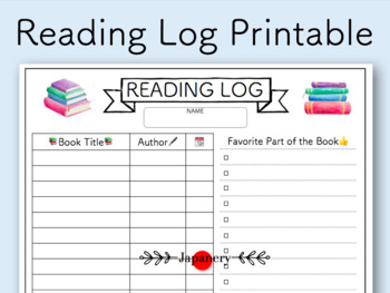 picture about Free Printable Reading Logs referred to as Easy Looking at Log Worksheets Instruction Supplies TpT