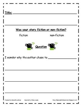 Simple Reading Response Notebooks