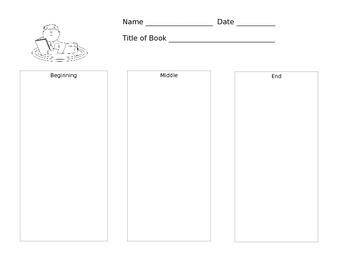 Simple Reading Response Sheets