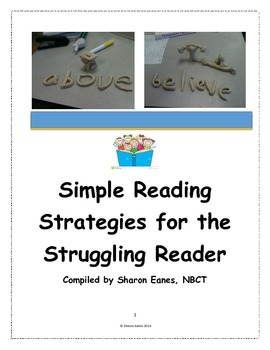 Simple Reading Strategies for the Struggling Reader