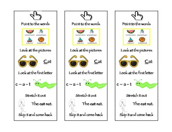 Simple Reading Strategy Bookmark