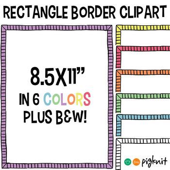 Simple Rectangle Border Clipart Frame