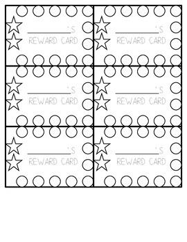Simple Reward Punch Cards