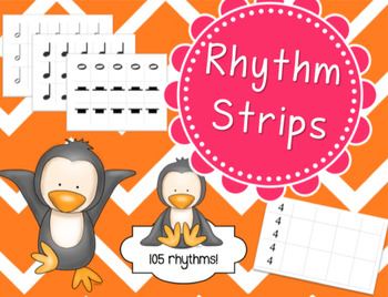 Rhythm Strips & Cards - Set of 105!