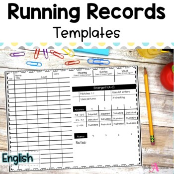 Simple Running Record & behaviors by level