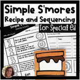 Simple S'more Recipe and Sequencing Activity   Special Education Resource