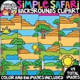 Simple Safari Backgrounds Clipart {Backgrounds Clipart}
