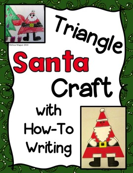 Simple Santa Craft with How-To Writing
