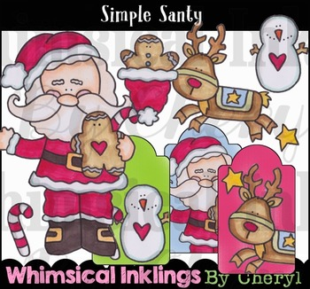 Simple Santy-Christmas Clipart Collection