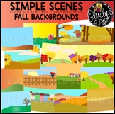 Simple Scenes - Fall Backgrounds Clip Art Set {Educlips Clipart}
