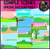 Simple Scenes - Spring Backgrounds Clip Art Set {Educlips