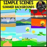 Simple Scenes - Summer Backgrounds Clip Art Set {Educlips