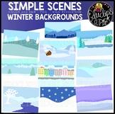 Simple Scenes - Winter Backgrounds Clip Art Set {Educlips