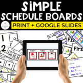 Simple Schedule Boards Print + Digital for Special Education