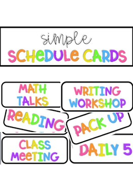 Simple Schedule Cards
