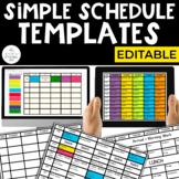 Simple Schedule Templates (EDITABLE)