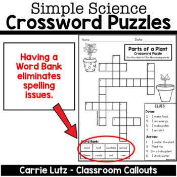 Simple Science Crossword Puzzles