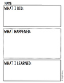Simple Science Experiment Recording Sheet Freebie