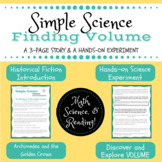 Simple Science : Finding Volume - a story and experiment