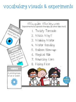 Simple Science Flip book: Experiments for Speech Therapy (& other labs too!)