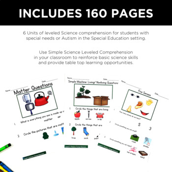 Simple Science Leveled Comprehension