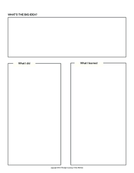 Simple Science Notebooking Page