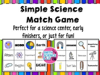 Simple Science Matching Game