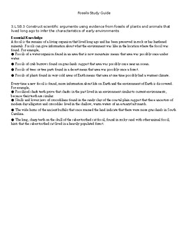 Simple Science Study Guide - Fossils