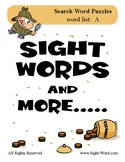 Simple Search Word Puzzles for Words that begin with A - S
